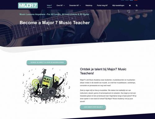 Webwinkel voor Major7 Music Teachers