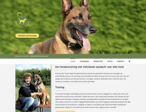 Website voor Hondentraining Kruisland